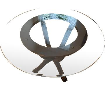 Pier 1 Round Glass Dining Table