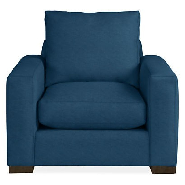 Room & Board Metro Dark Blue Accent Chair