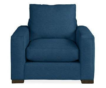 Room & Board Metro Dark Blue Accent Chair