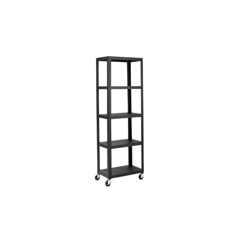 CB2 Go-Cart 5 Shelf Rolling Bookcase-0