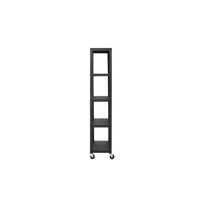CB2 Go-Cart 5 Shelf Rolling Bookcase-1
