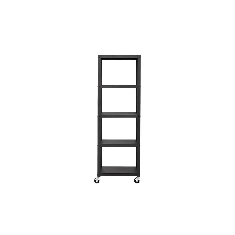 CB2 Go-Cart 5 Shelf Rolling Bookcase