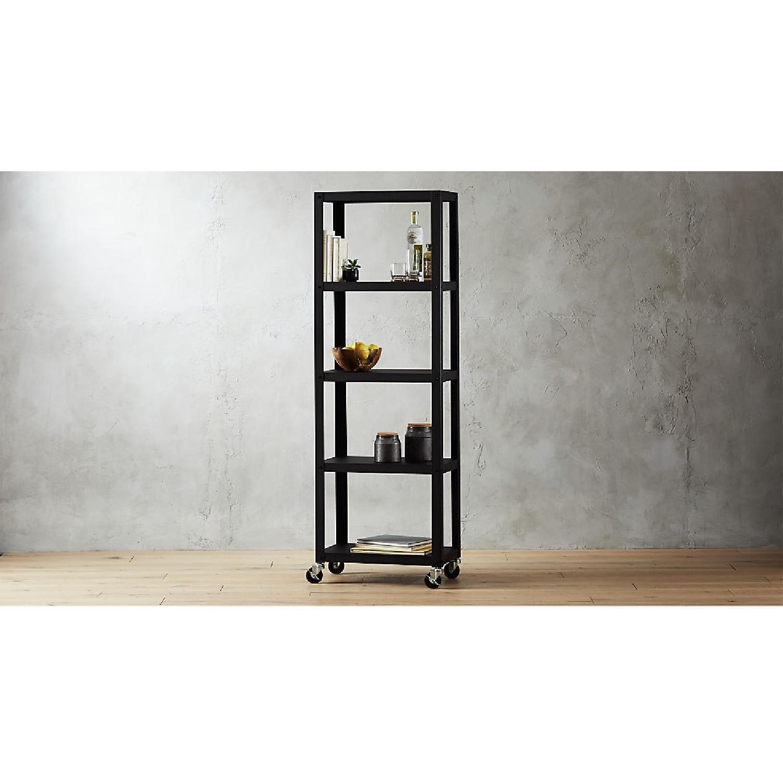 CB2 Go-Cart 5 Shelf Rolling Bookcase-3