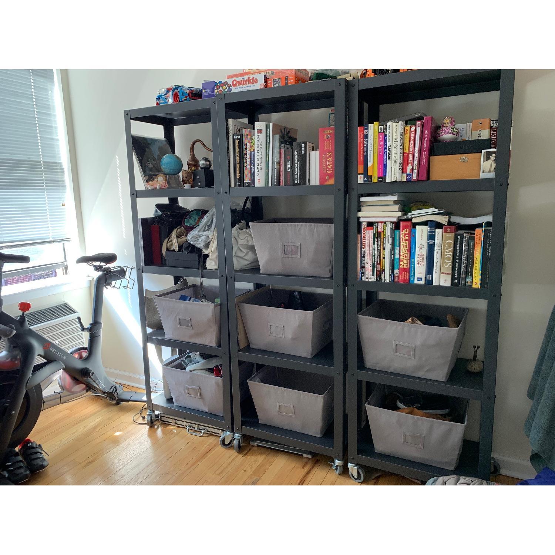 CB2 Go-Cart 5 Shelf Rolling Bookcase-4