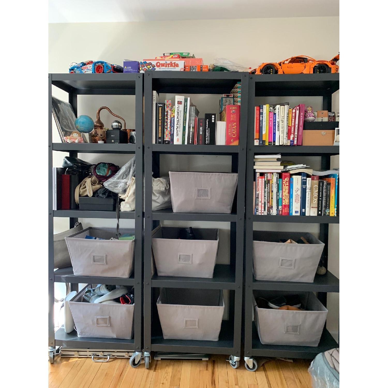 CB2 Go-Cart 5 Shelf Rolling Bookcase-5