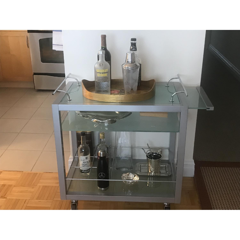 Italian Coffee/Tea Cart w/ Wheels-2