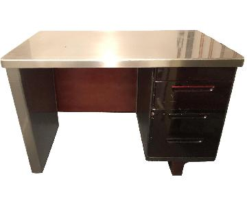 Antique Metal Desk