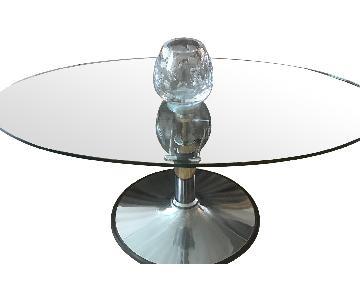 Italian Adjustable Height Glass Coffee Table
