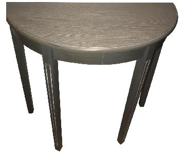 Grey Half-Round Entry Table