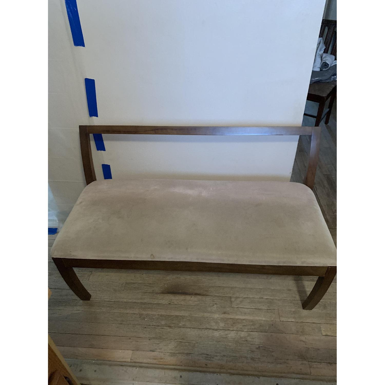 Wood Hallway Bench-0