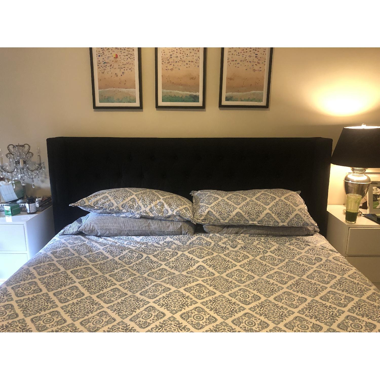 Restoration Hardware Adler Tufted Fabric King Bed-0