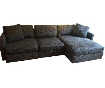 Macys 3-Piece Sectional Sofa w/ Right Arm Facing Chaise