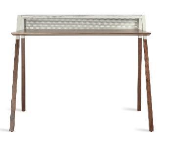 Blu Dot Cant Desk in Walnut/ Grey
