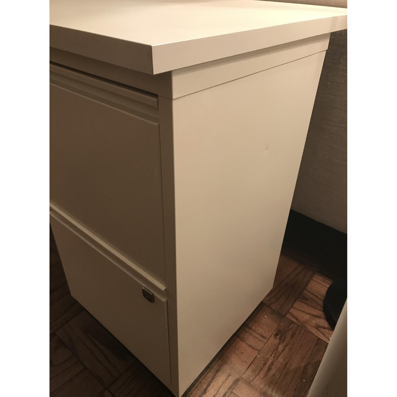 Elfa Desk w/ Cabinet & Shelves-1