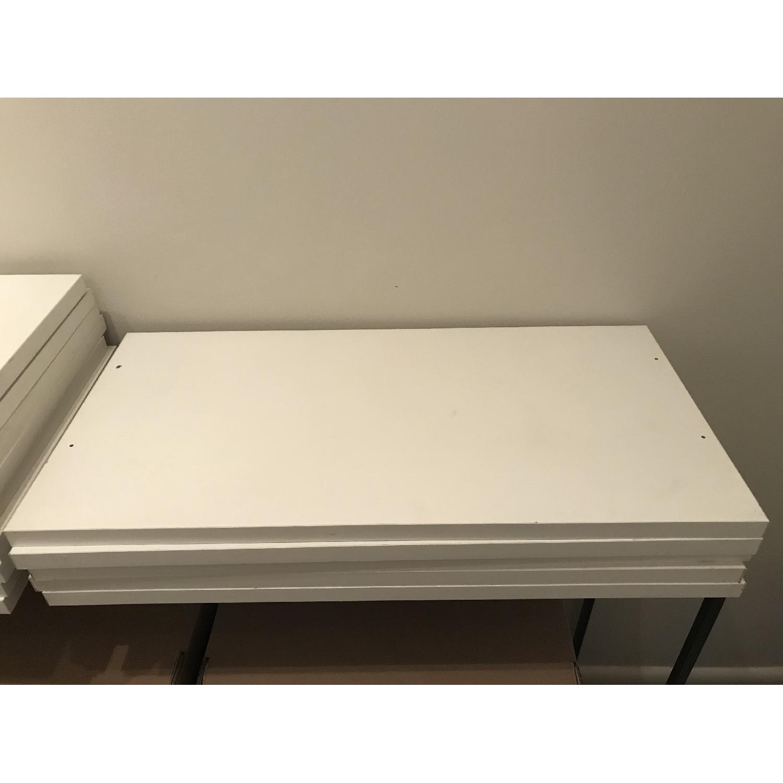 Elfa Desk w/ Cabinet & Shelves-2