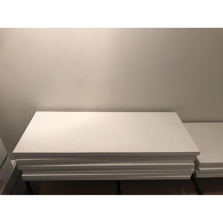 Elfa Desk w/ Cabinet & Shelves-3