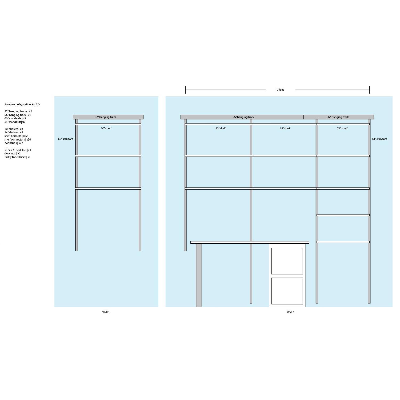 Elfa Desk w/ Cabinet & Shelves-6