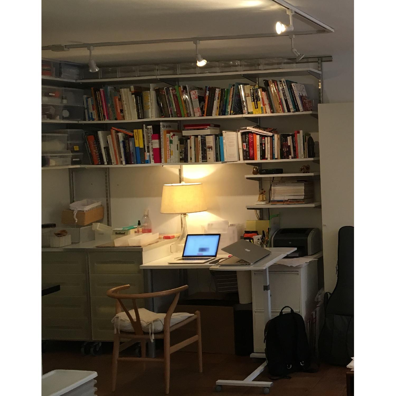 Elfa Desk w/ Cabinet & Shelves