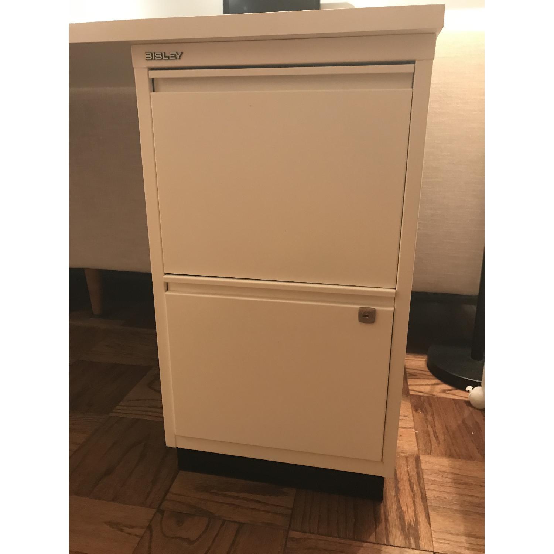 Elfa Desk w/ Cabinet & Shelves-9