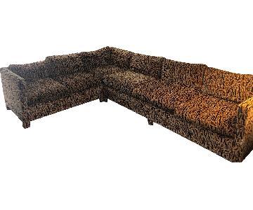Vintage 1975 Erwin-Lambeth Hardwood Sectional Sofa