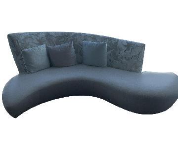 Italian Contemporary Fabric & Leather Sofa