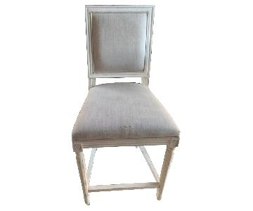 Restoration Hardware French Square Fabric Stools