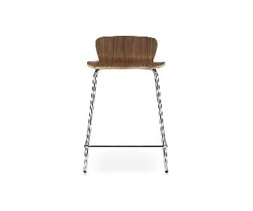 Crate & Barrel Felix Walnut Counter Stools
