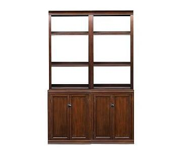 Pottery Barn Logan Bookcase w/ Cabinet Doors