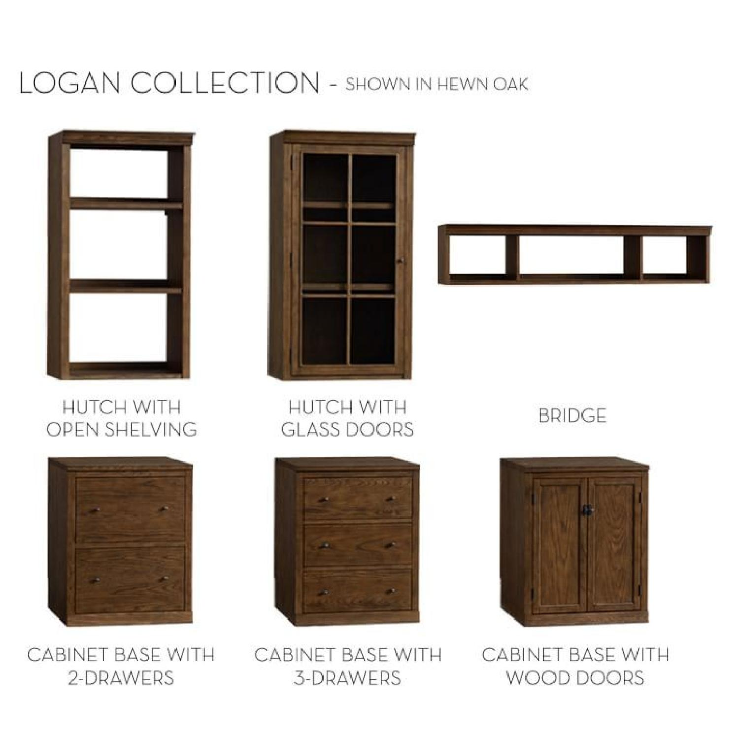 Pottery Barn Logan Bookcase w/ Cabinet Doors-0