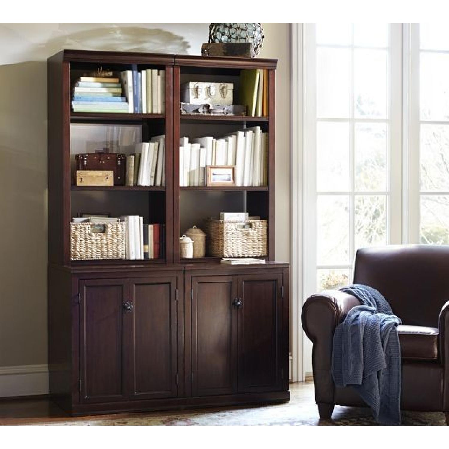 Pottery Barn Logan Bookcase w/ Cabinet Doors-2