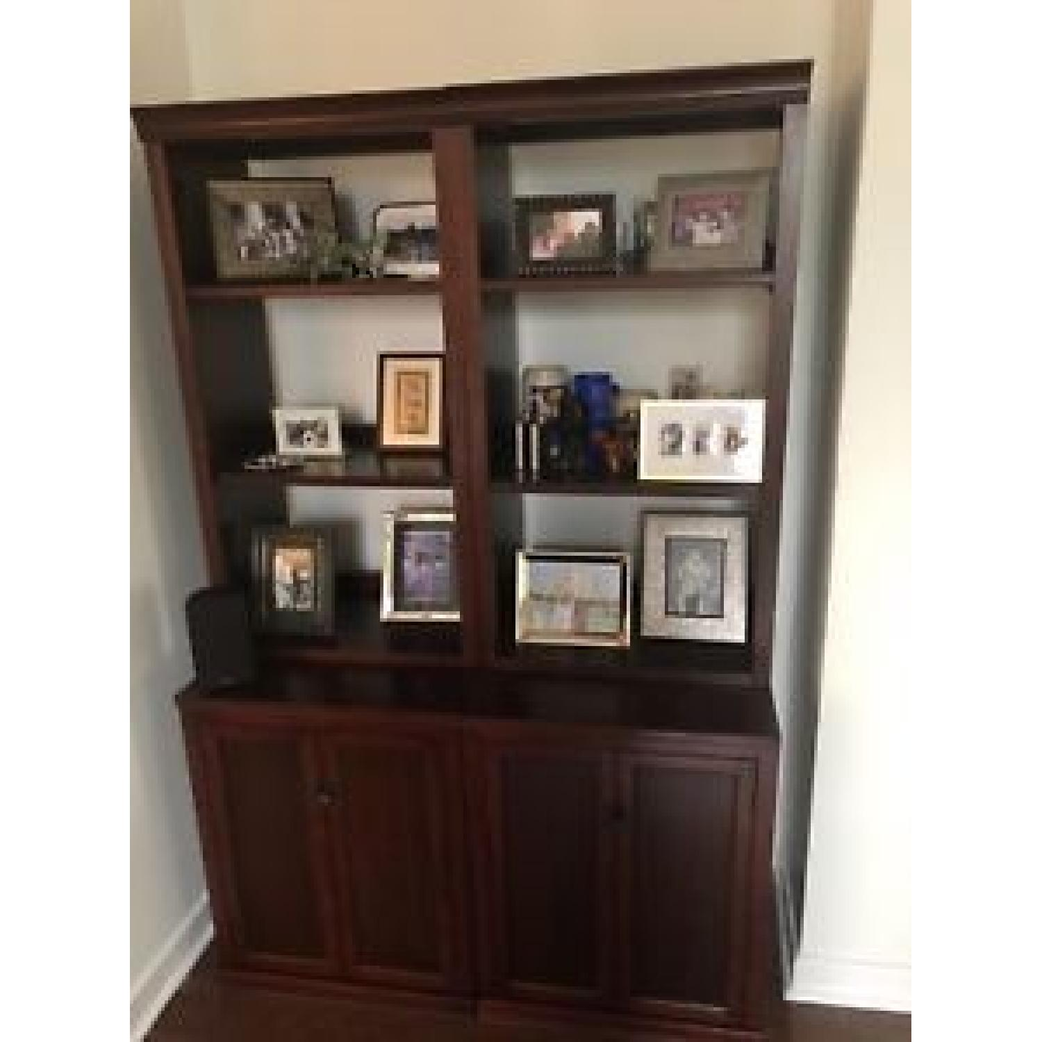 Pottery Barn Logan Bookcase w/ Cabinet Doors-3