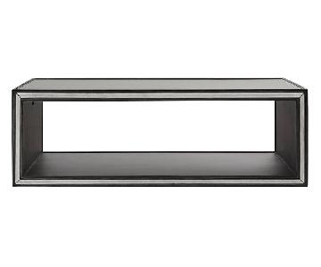 Restoration Hardware Black Metal & Mirrored Coffee Table