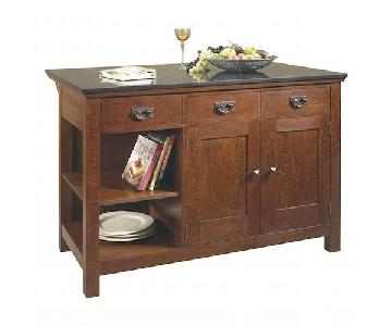 Stickley Kitchen Island w/ Granite Top