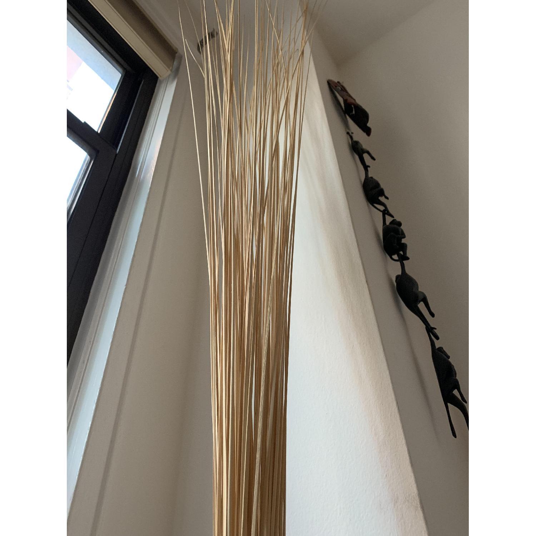 Handcarved Wooden Holder w/ CB2 Tall Wood Sticks-0