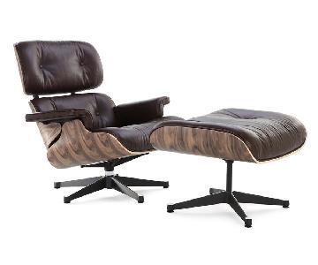 Manhattan Home Design Classic Lounge Chair in Brown