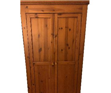 Natural Wood Armoire