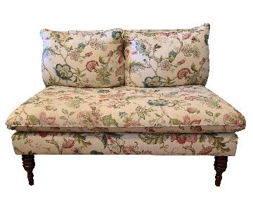 Floral Armless Loveseat