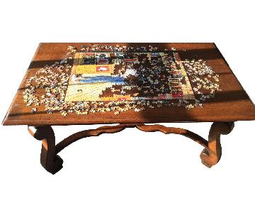 Country French Oak Coffee Table