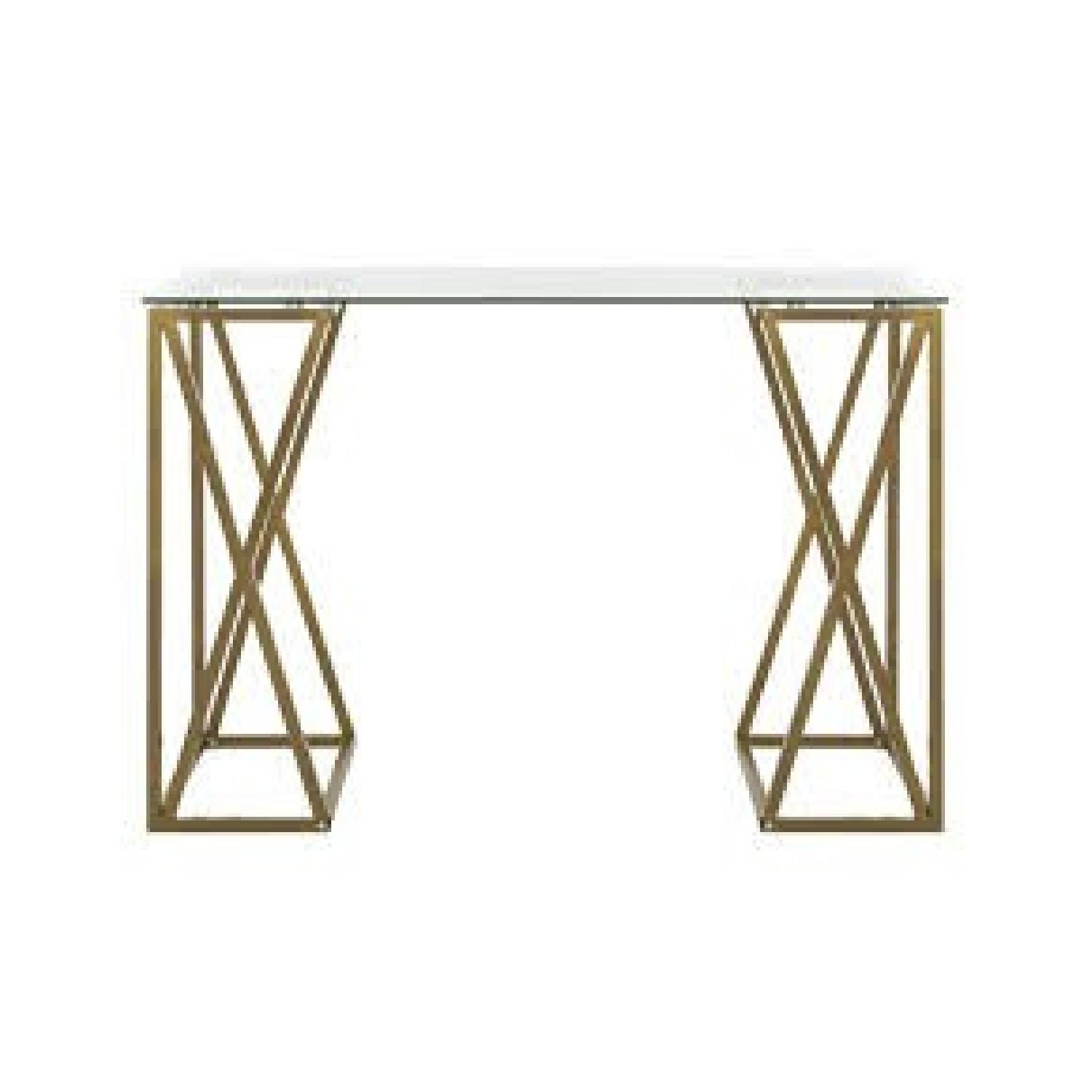 Safavieh Gold & Glass Writing Desk-1