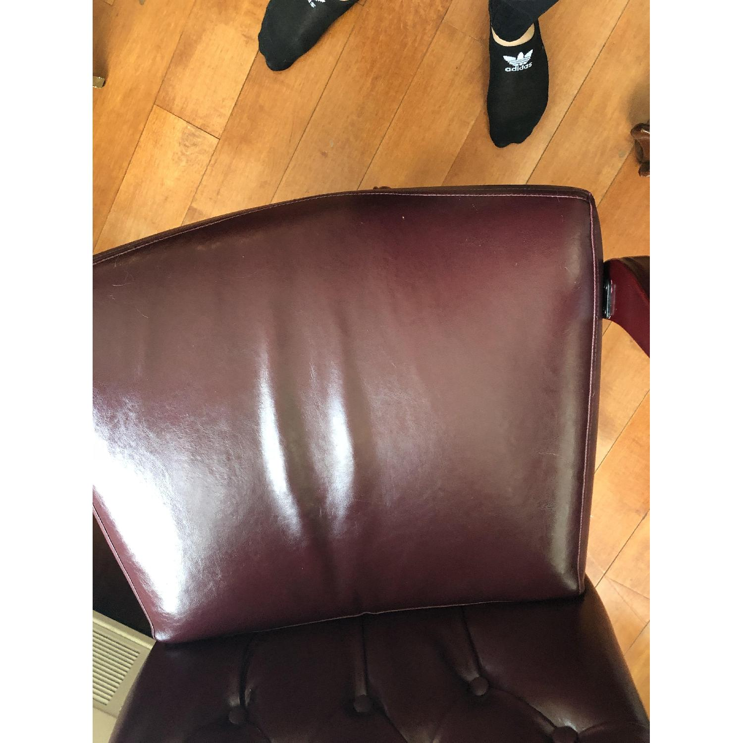 Leather Tufted Studded Office Chair-5
