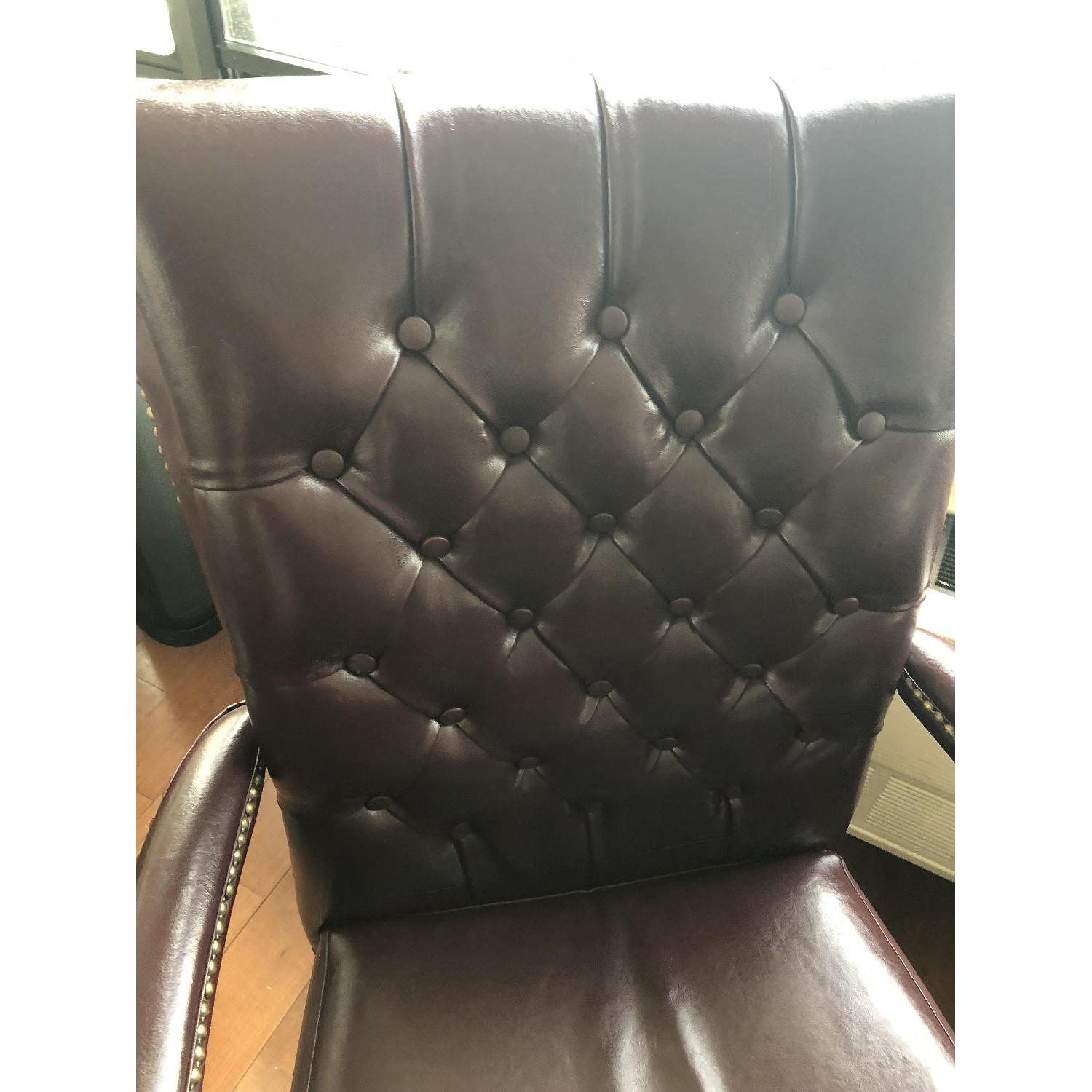 Leather Tufted Studded Office Chair-6