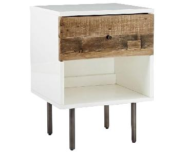 West Elm Reclaimed Wood + Lacquer Nightstand