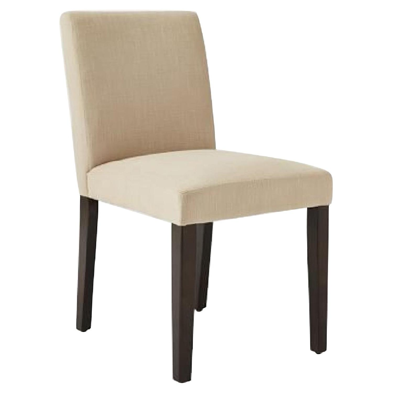 West Elm Upholstered Natural Dining Chairs Aptdeco