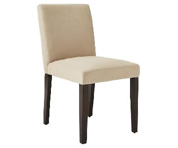 West Elm Upholstered Natural Dining Chairs