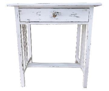 Vintage Distressed Farmhouse Side Table