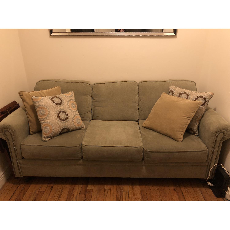 Serta Upholstery Suffield Light Green Sofa-0