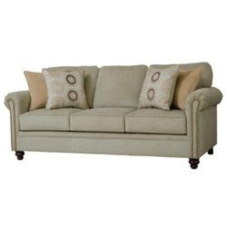 Serta Upholstery Suffield Light Green Sofa