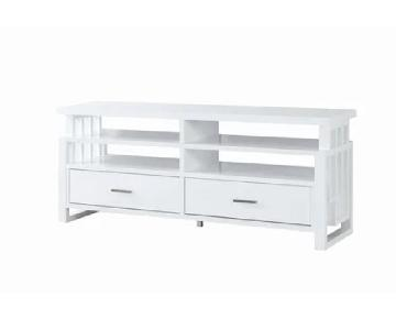 Glossy White/Grey TV Console
