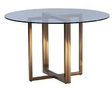 CB2 Silverado Brass Round Dining Table