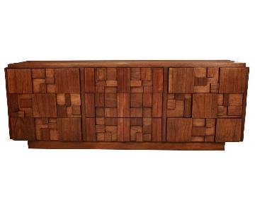 Lane Mid Century Brutalist Dresser